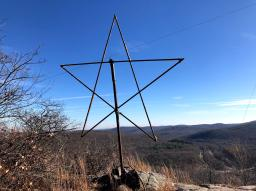 Star just before the summit.